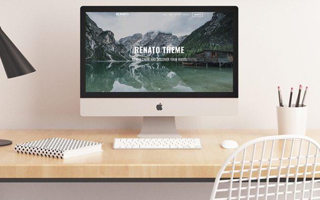 Renato website iMac