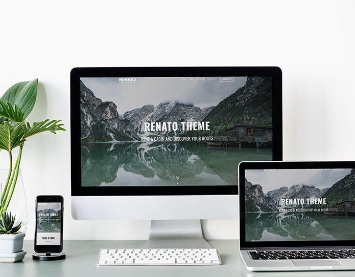 Renato website responsive